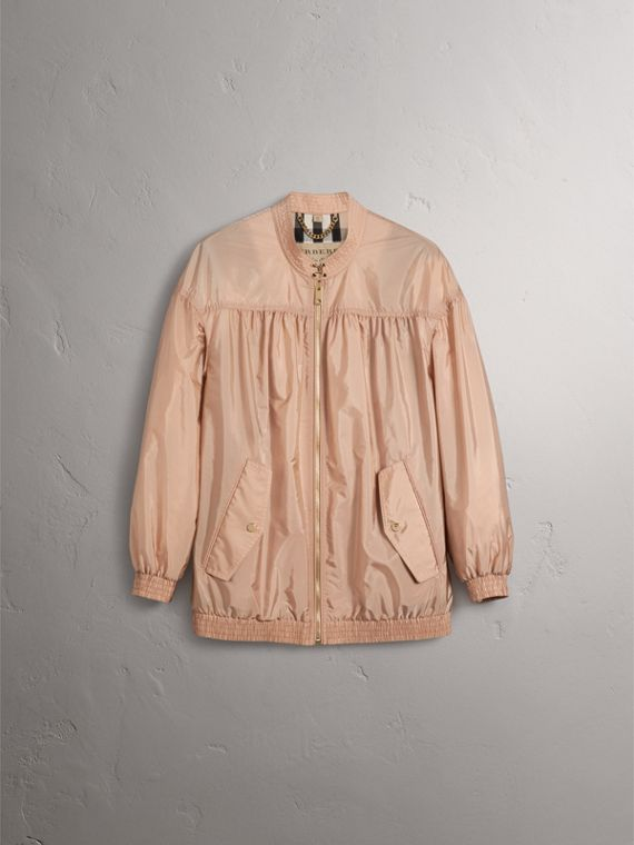 Ruched Showerproof Jacket in Ivory Pink - cell image 3