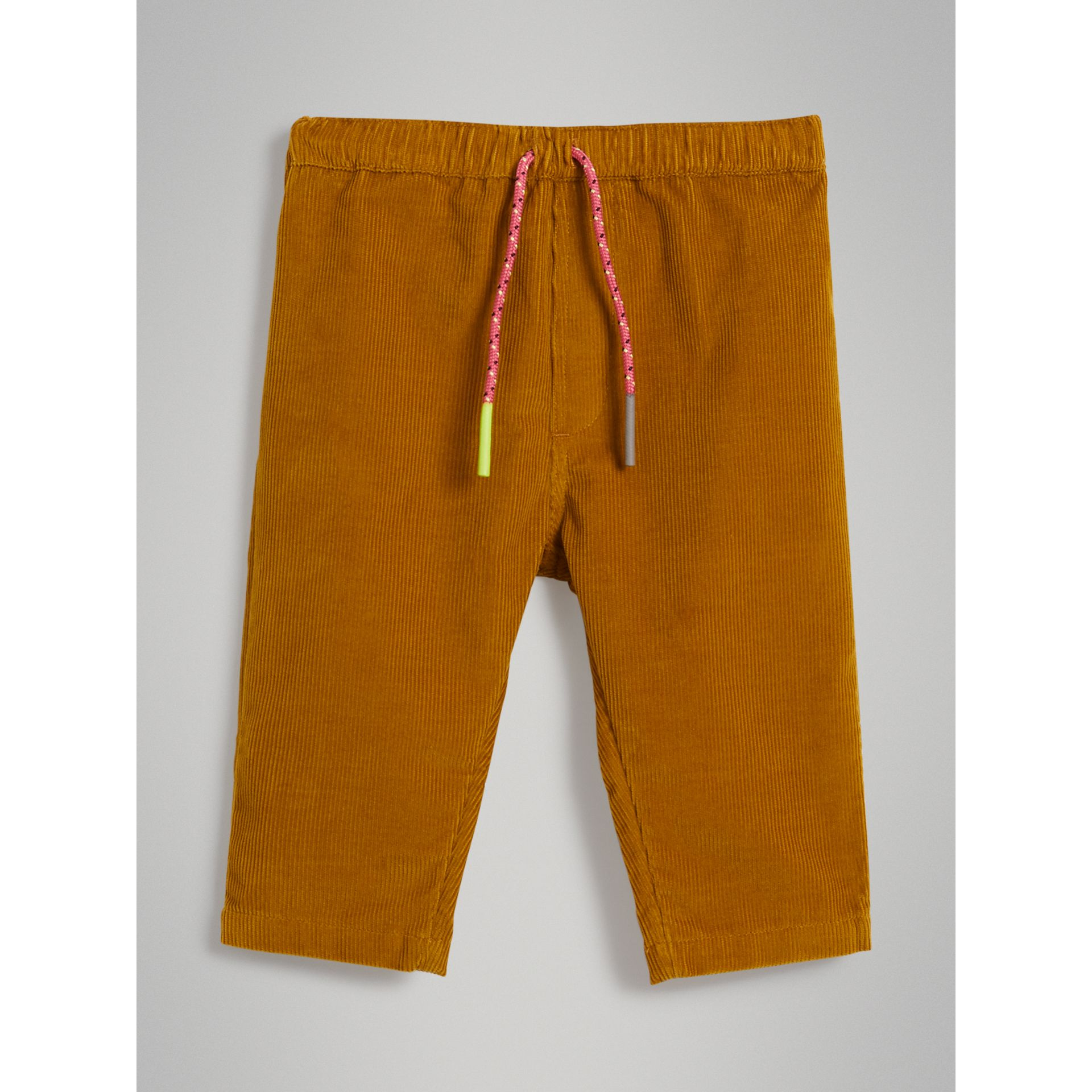 Corduroy Drawcord Trousers in Ochre - Children | Burberry United States - gallery image 0