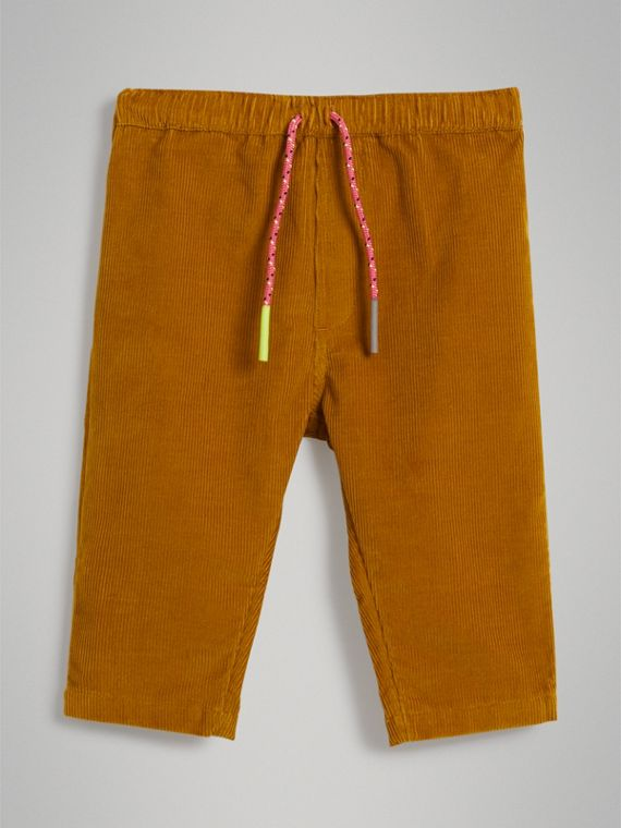 Corduroy Drawcord Trousers in Ochre