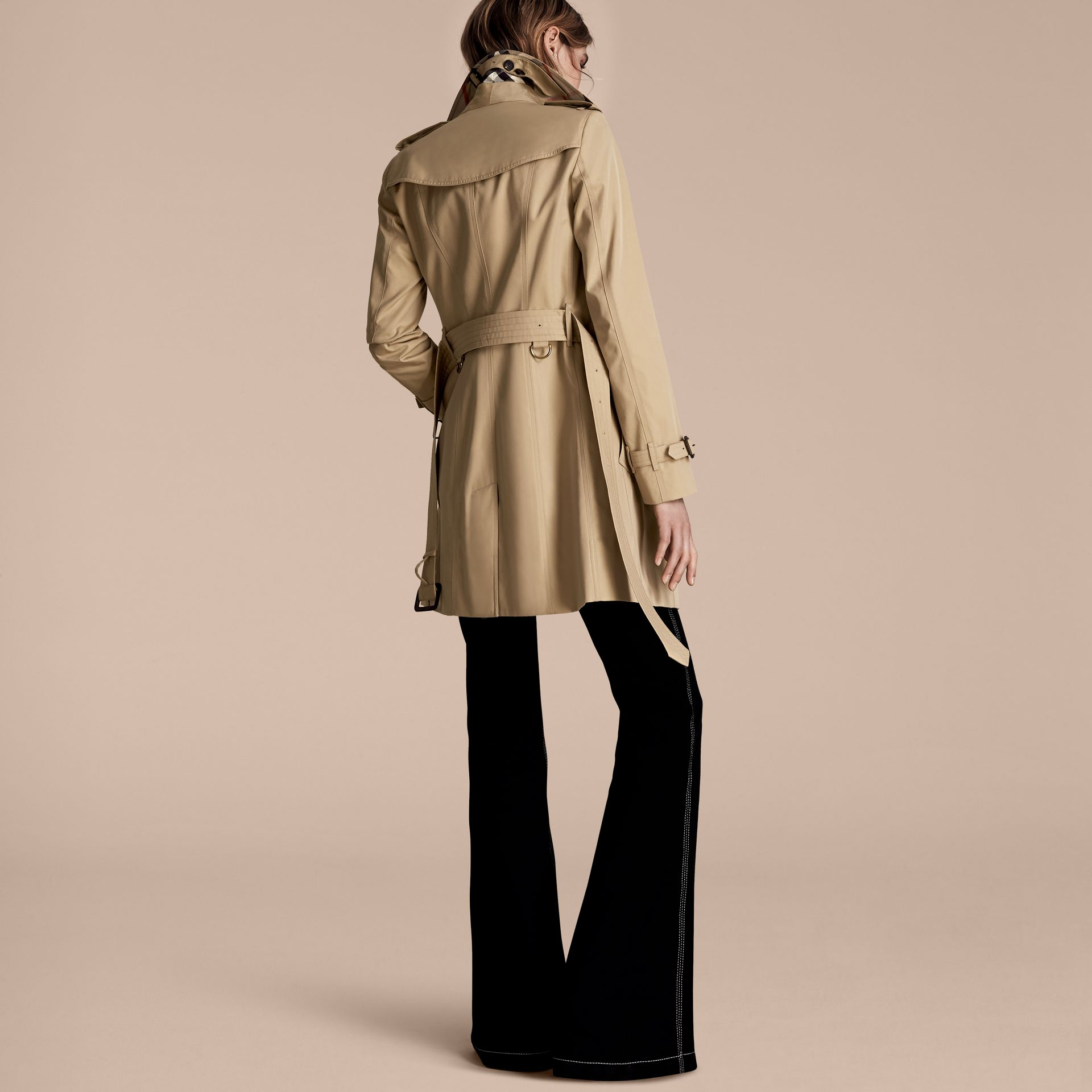 Honey The Sandringham – Mid-Length Heritage Trench Coat Honey - gallery image 3