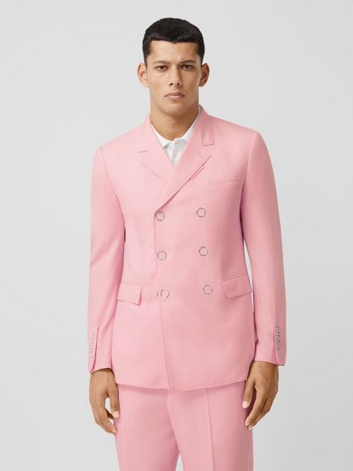 Burberry Jackets Slim Fit Press-stud Tumbled Wool Tailored Jacket