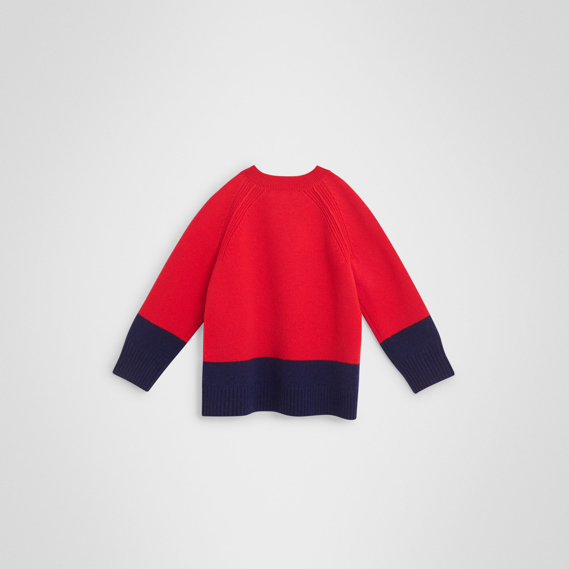 Logo Intarsia Cashmere Sweater in Bright Red - Boy | Burberry - gallery image 3
