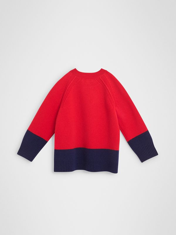 Logo Intarsia Cashmere Sweater in Bright Red | Burberry - cell image 3