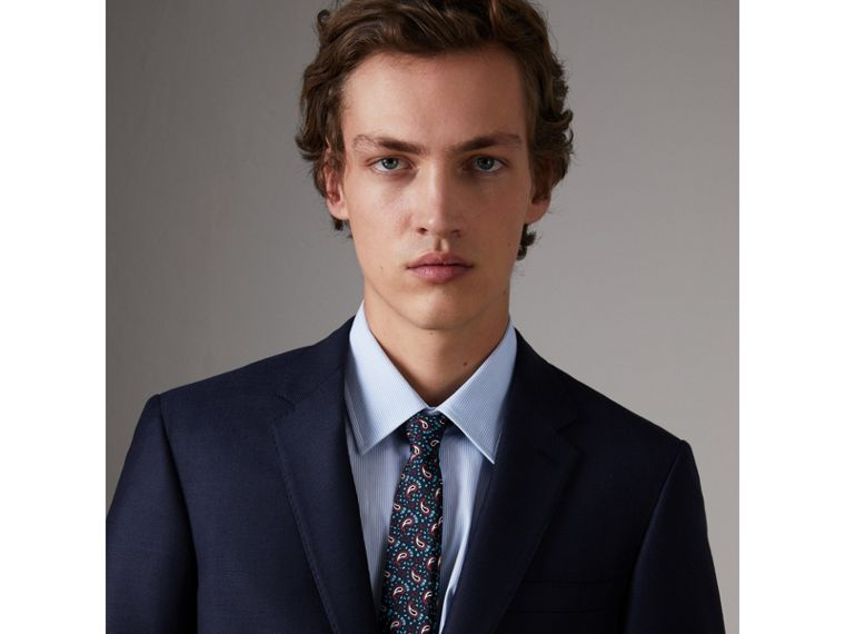 Slim Cut Paisley Silk Twill Tie in Navy - Men | Burberry Hong Kong - cell image 2