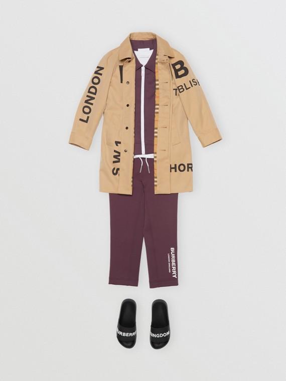 Pantalon de survêtement léger avec logo (Bordeaux)