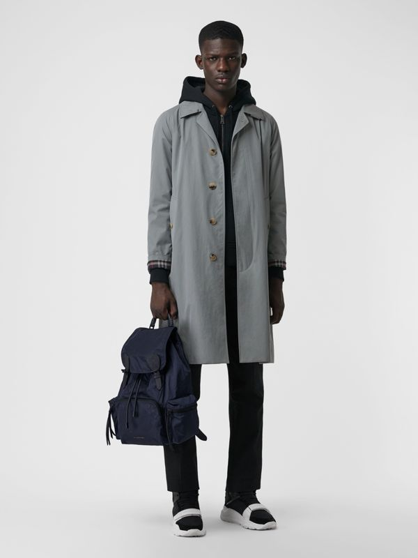 The Large Rucksack in Technical Nylon and Leather in Ink Blue - Men | Burberry United Kingdom - cell image 2