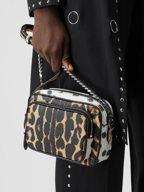 Animal Print Leather Camera Bag in Honey/black - Women | Burberry United Kingdom - cell image 2