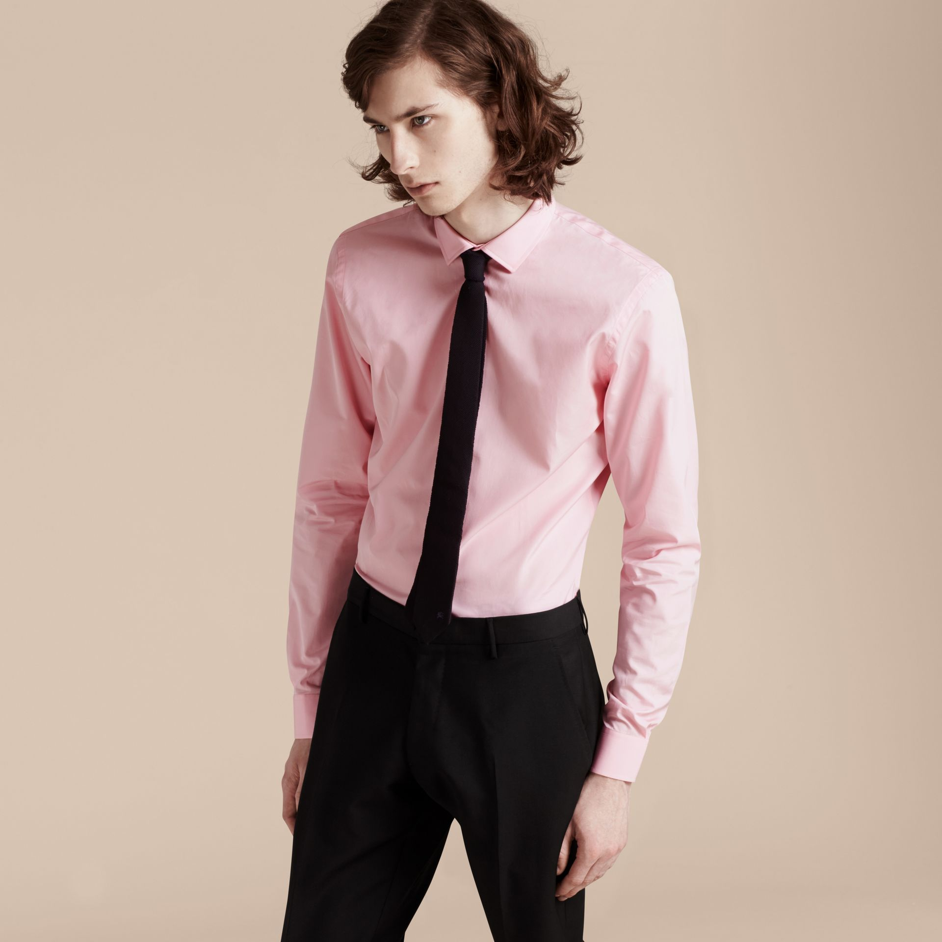 City pink Slim Fit Cotton Poplin Shirt - gallery image 6