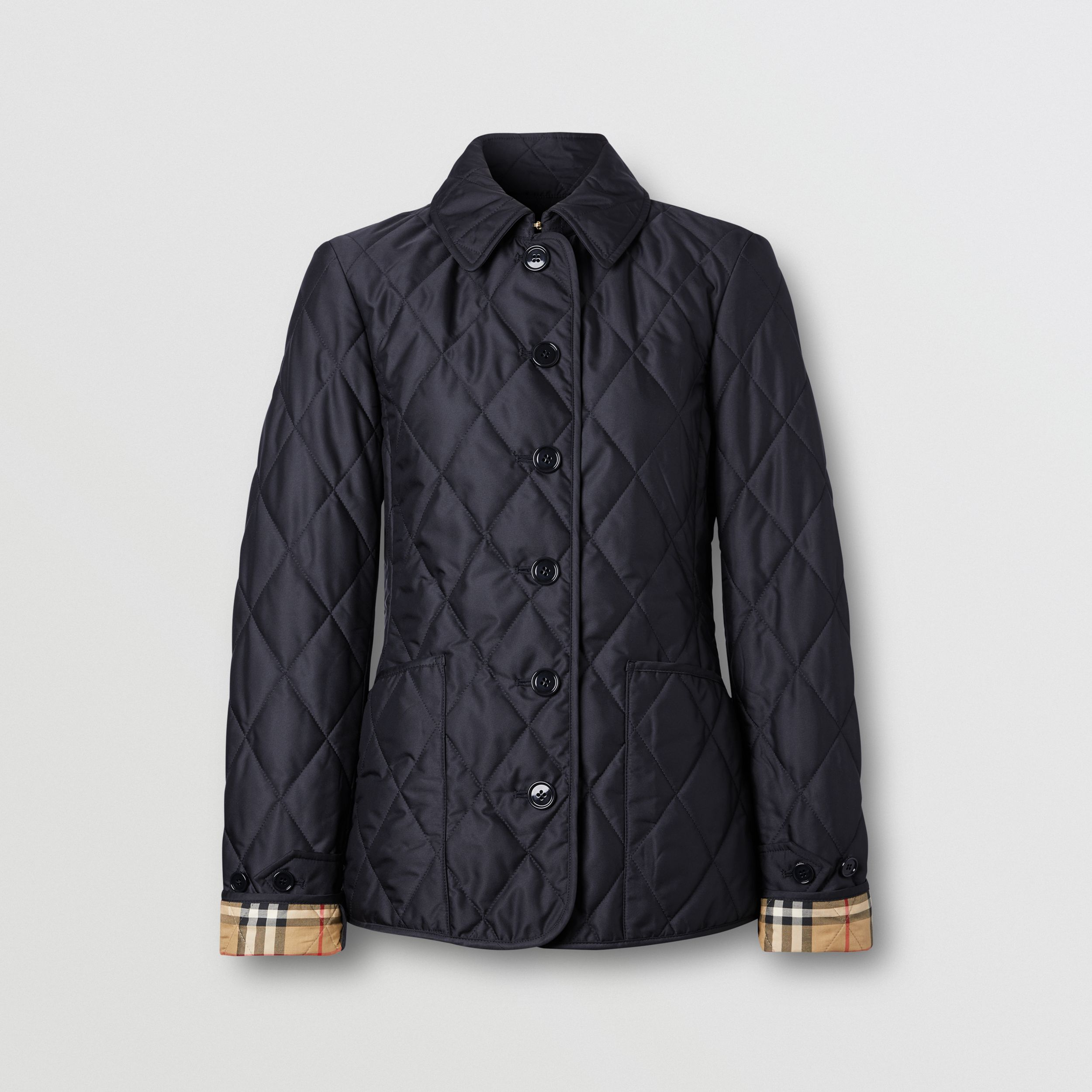 Diamond Quilted Thermoregulated Jacket in Midnight - Women | Burberry - 1