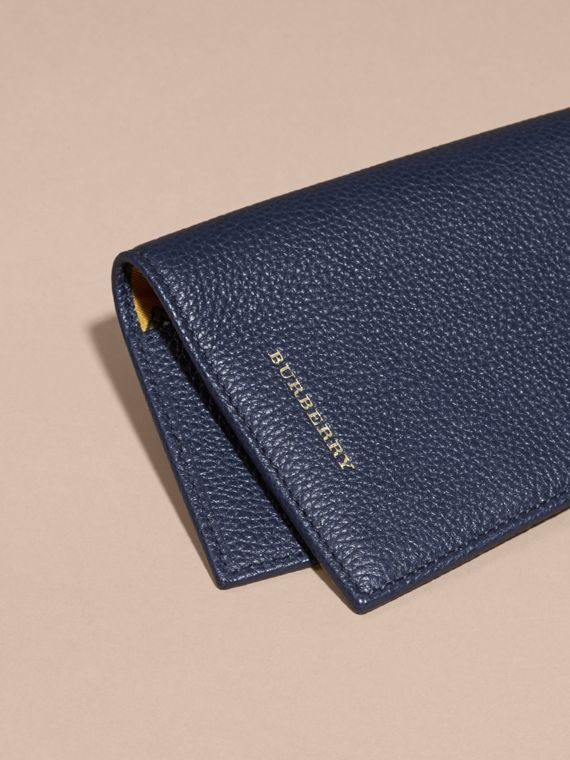 Bright navy Grainy Leather Passport and Card Holder Bright Navy - cell image 2