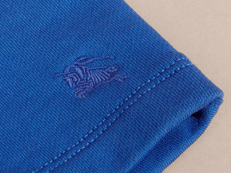 Cotton Jersey Drawcord Shorts in Brilliant Blue | Burberry - cell image 1