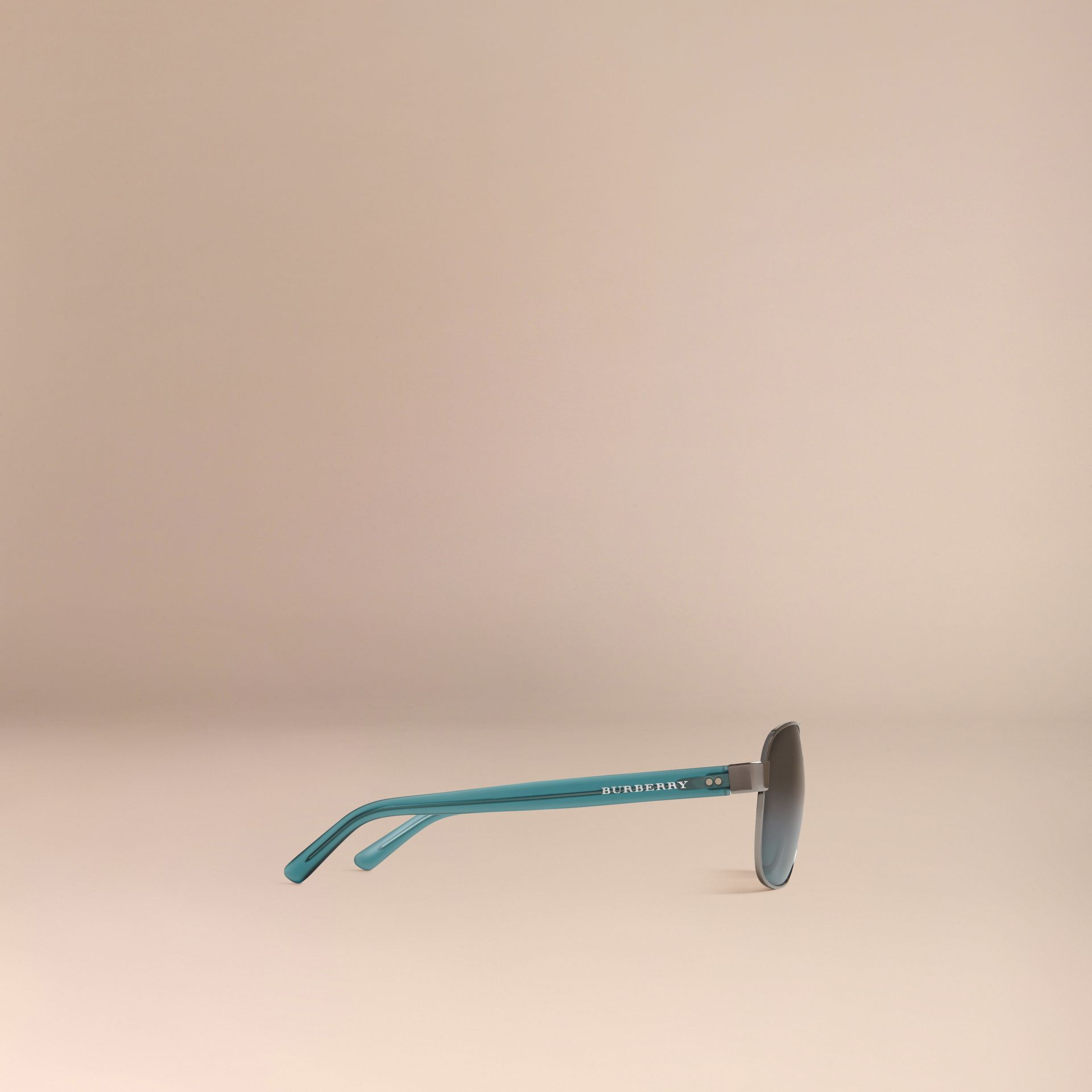 Blue Square Frame Aviator Polarised Sunglasses Blue - gallery image 5