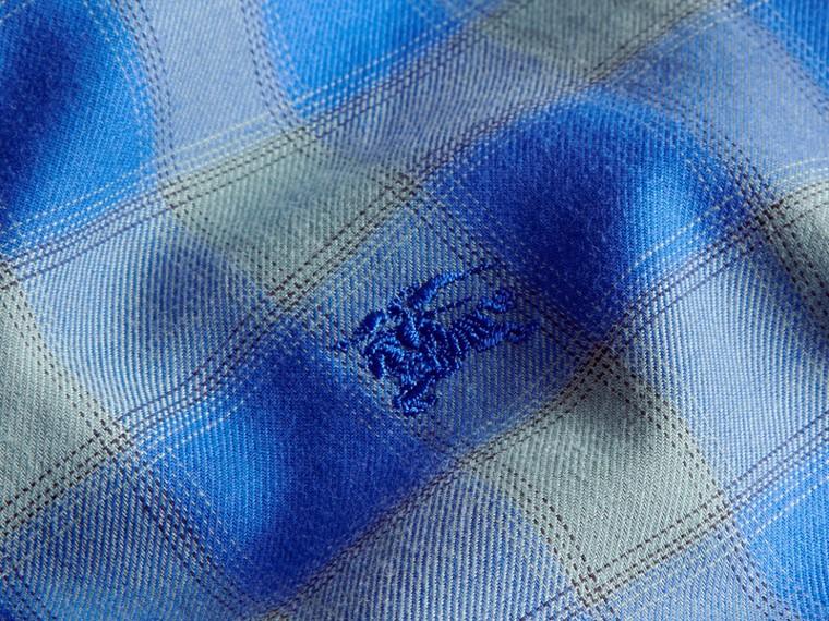 Eukalyptusgrün Baumwollhemd mit Vichy-Muster Eukalyptusgrün - cell image 1