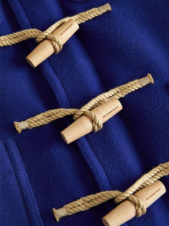 Double-faced Wool Duffle Coat in Brilliant Blue | Burberry Australia - cell image 1