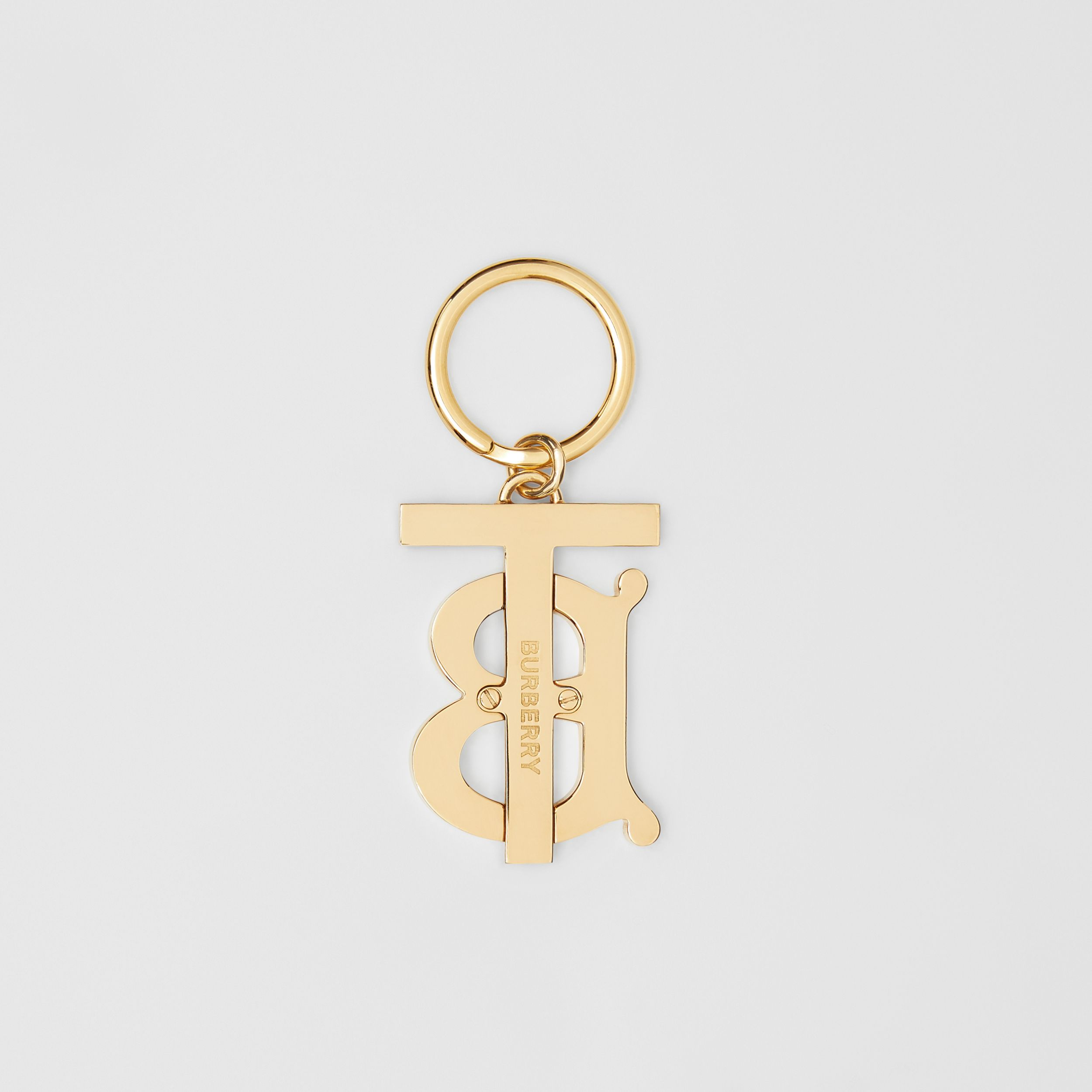 Monogram Motif Gold-plated Key Charm in Black - Women | Burberry - 3