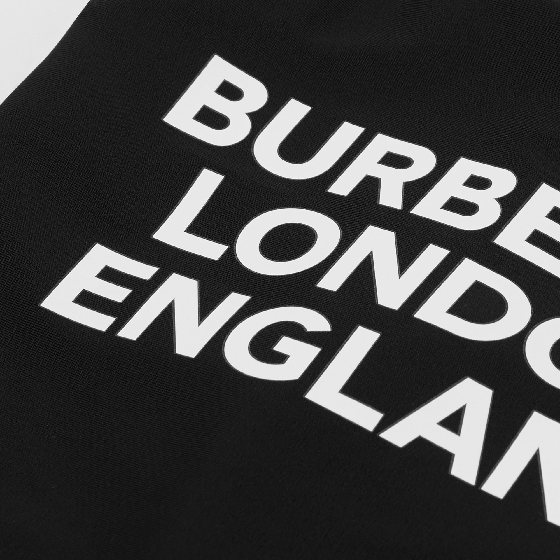 Logo Print Swimsuit in Black - Children | Burberry Hong Kong S.A.R - gallery image 1