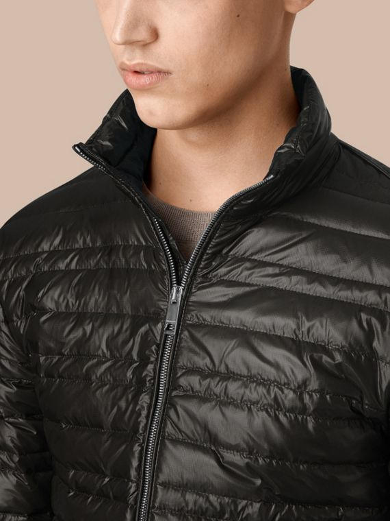 Lightweight Down-filled Jacket in Black - cell image 3