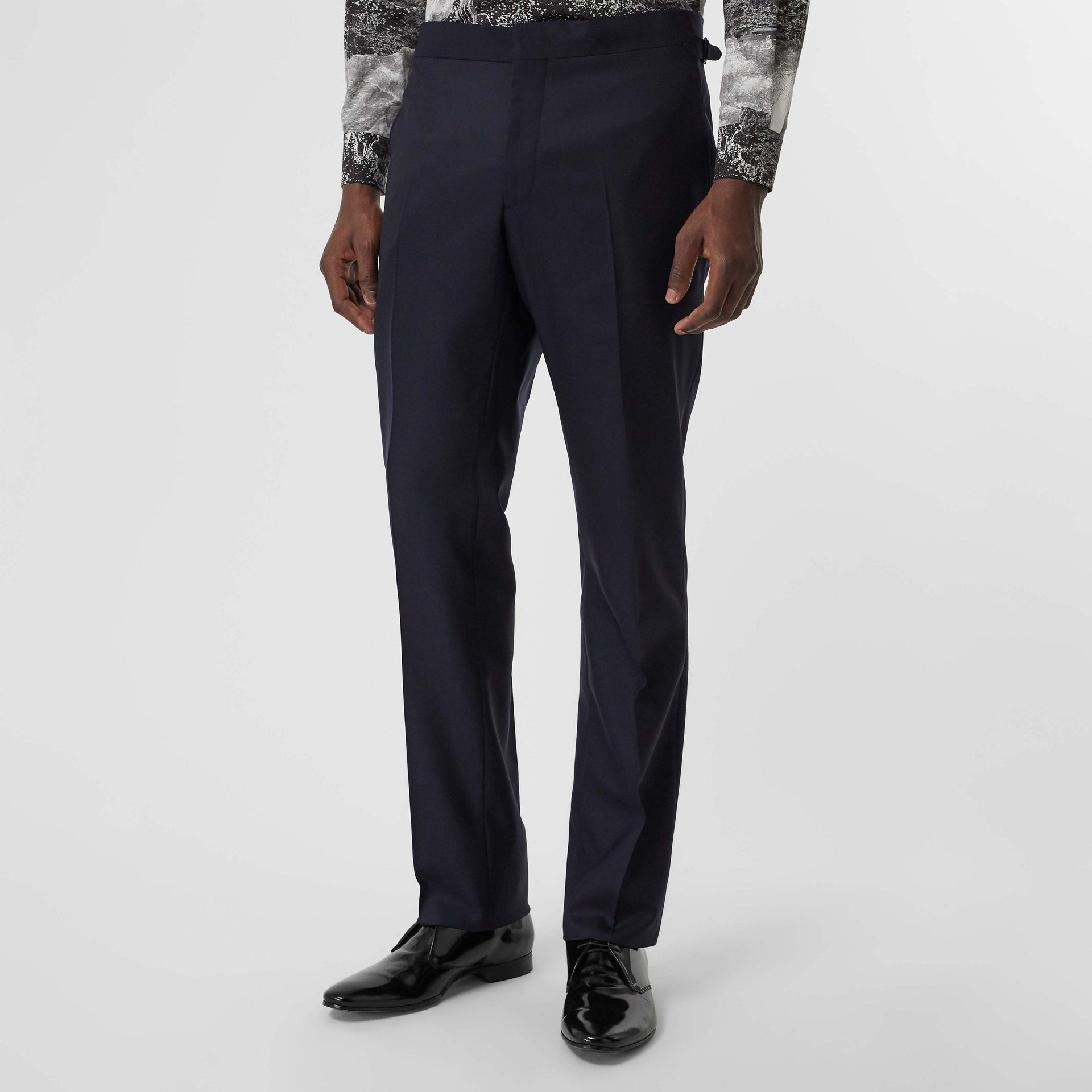 Classic Fit Wool Twill Suit in Navy - Men | Burberry - gallery image 6