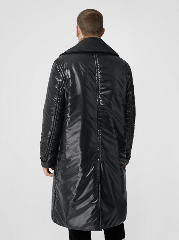 Detachable Funnel Neck Padded Nylon Car Coat in Black - Men | Burberry - cell image 1