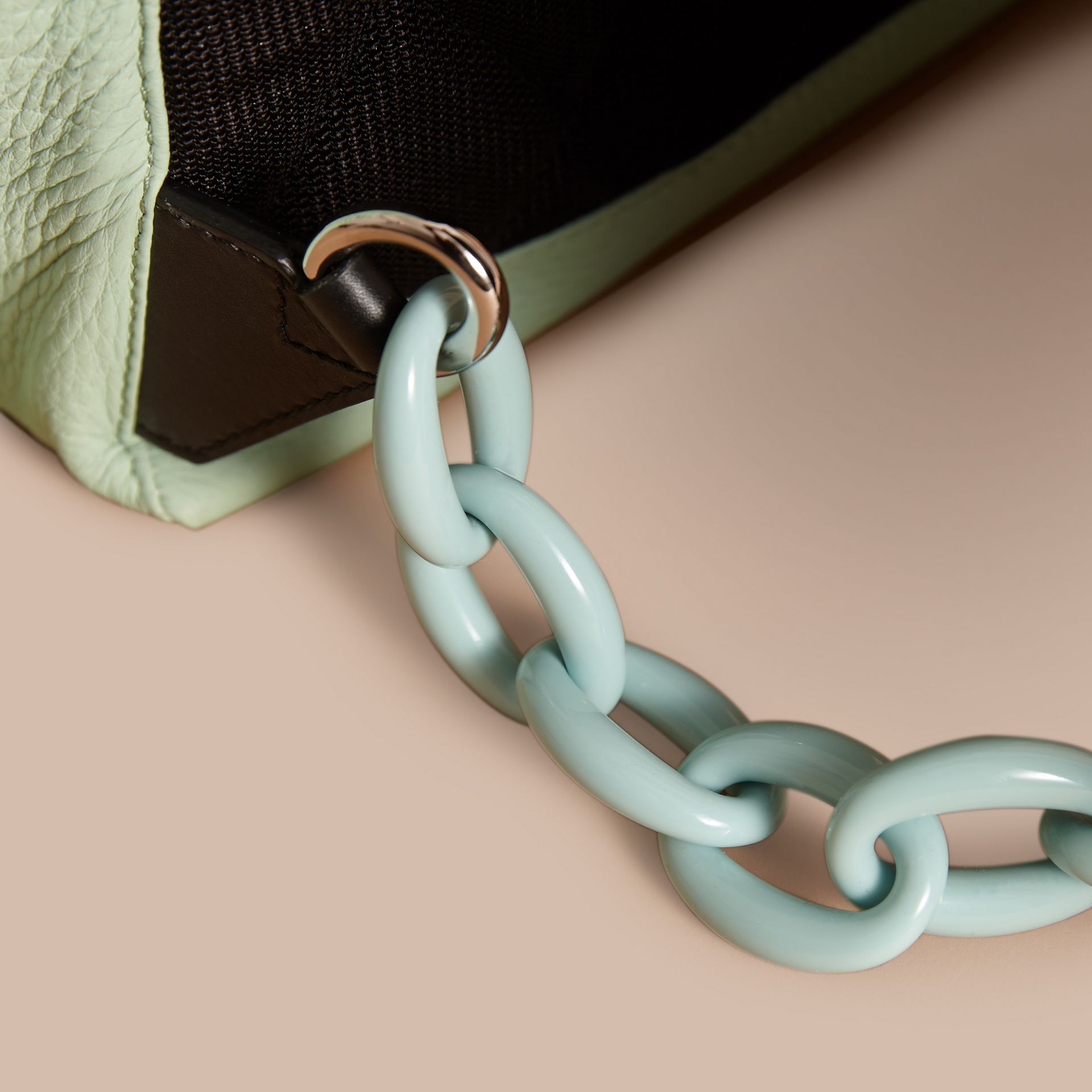 The Medium Rucksack in Deerskin with Resin Chain in Spearmint - Women | Burberry - gallery image 2