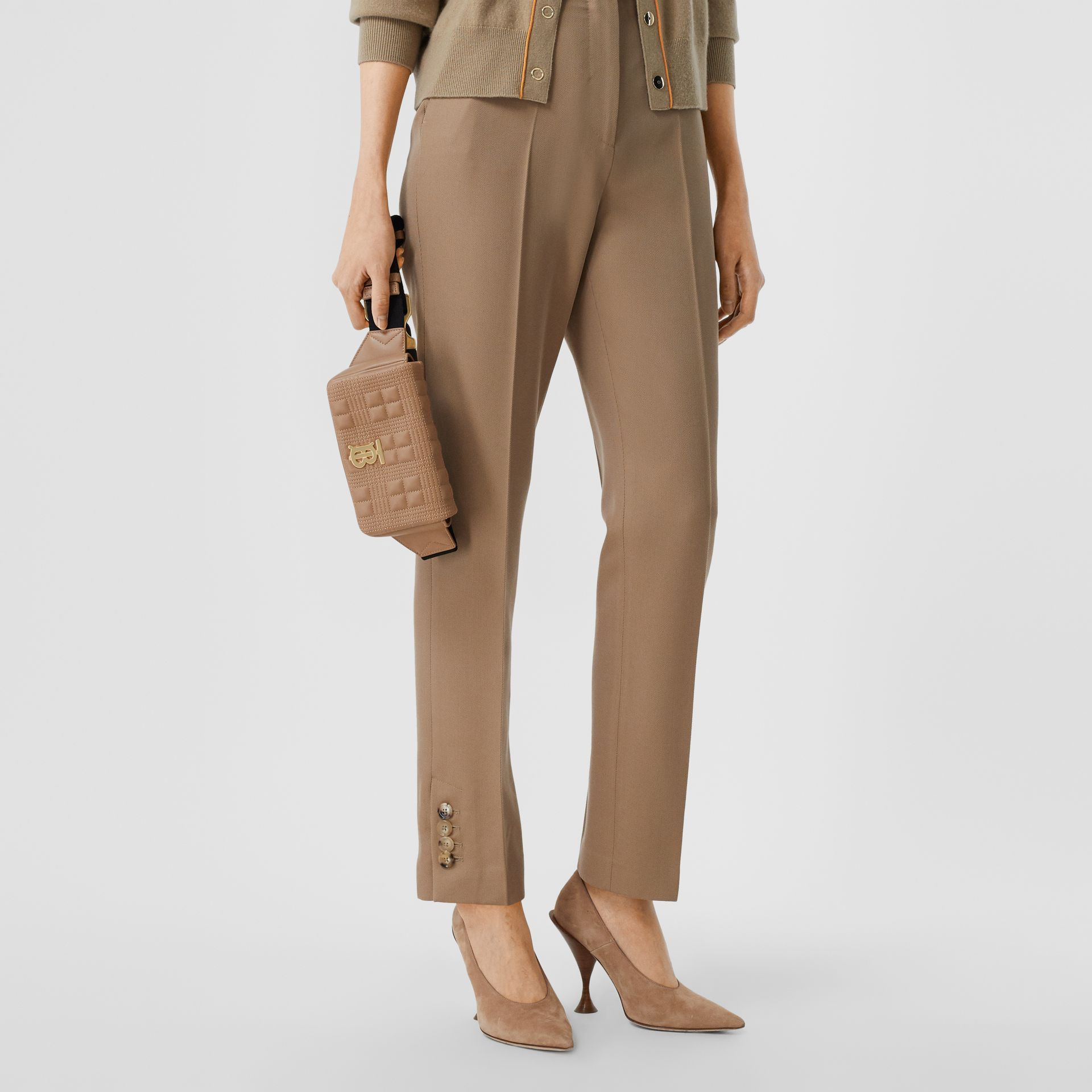 Quilted Lambskin Lola Bum Bag in Camel | Burberry United States - gallery image 2