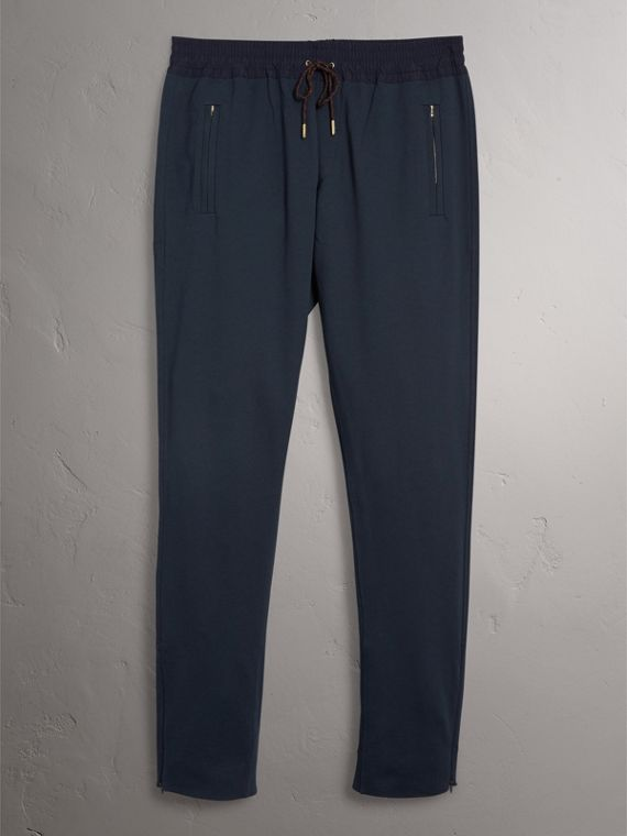 Cotton Sweatpants in Navy - Men | Burberry Australia - cell image 3