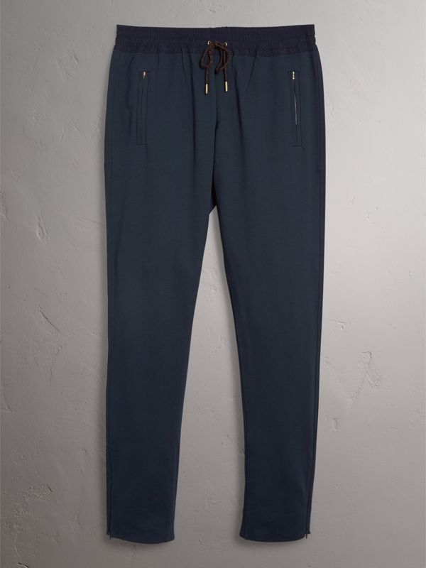 Cotton Sweatpants in Navy - Men | Burberry - cell image 3