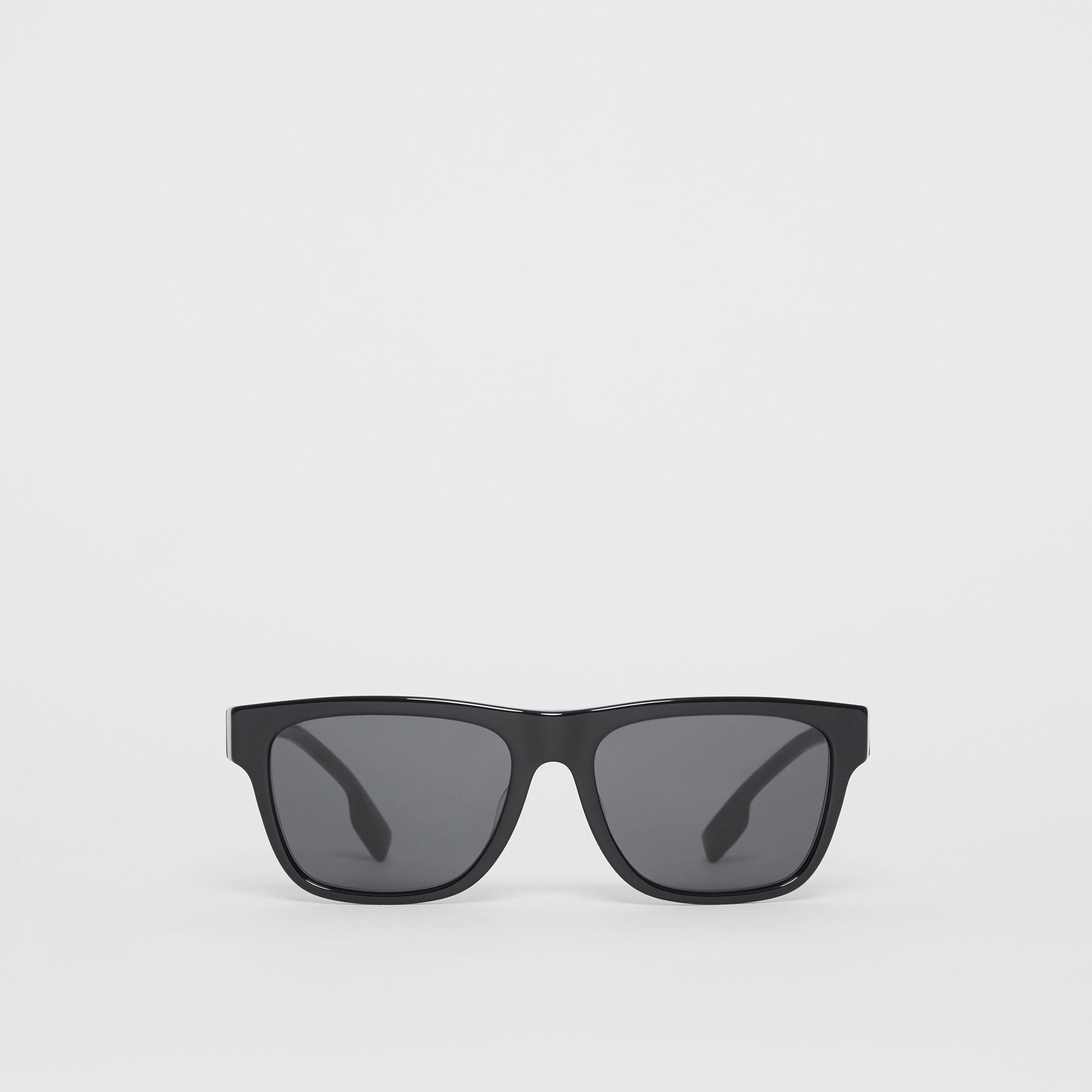 Square Frame Sunglasses in Black - Men | Burberry - 1