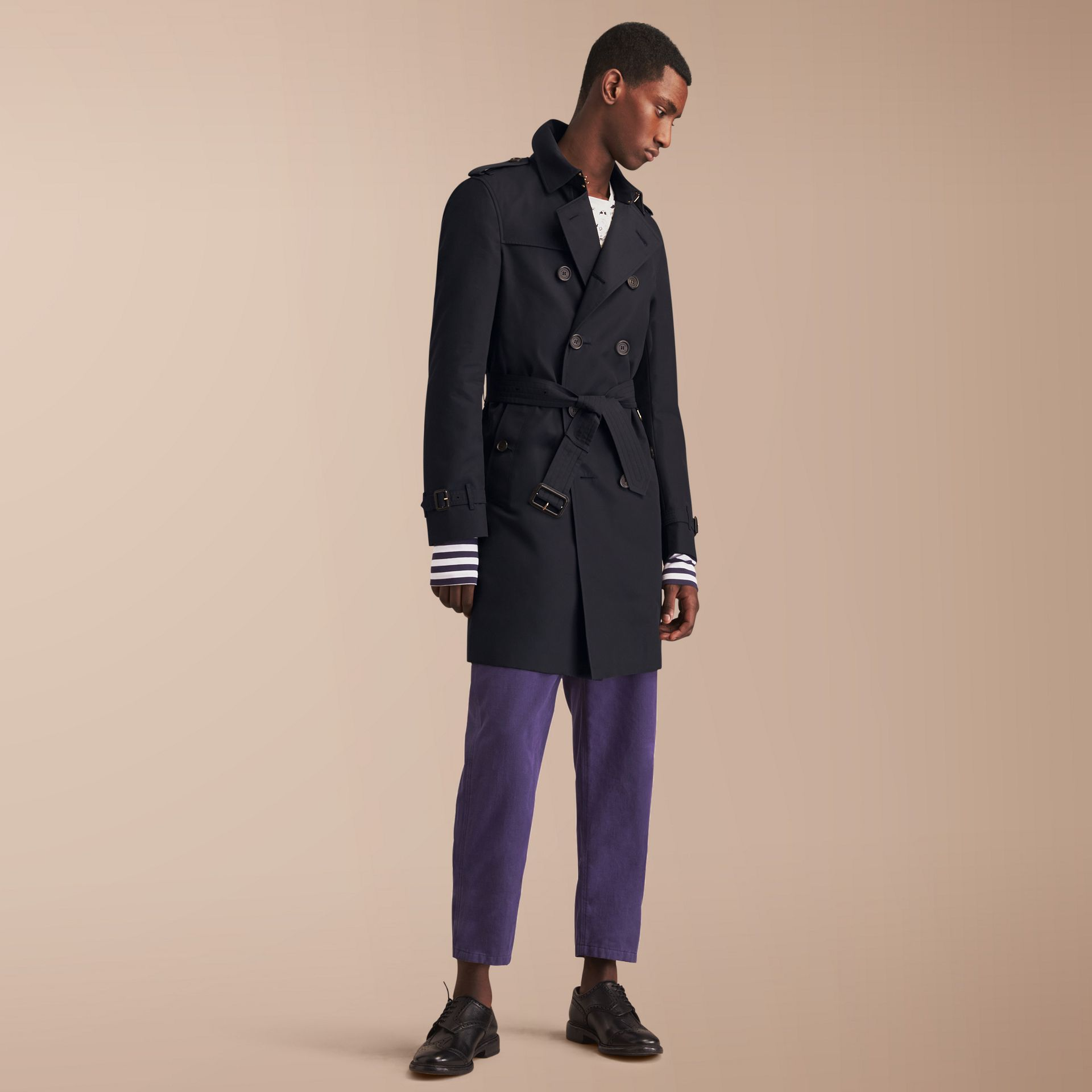 The Chelsea – Long Heritage Trench Coat in Navy - gallery image 7