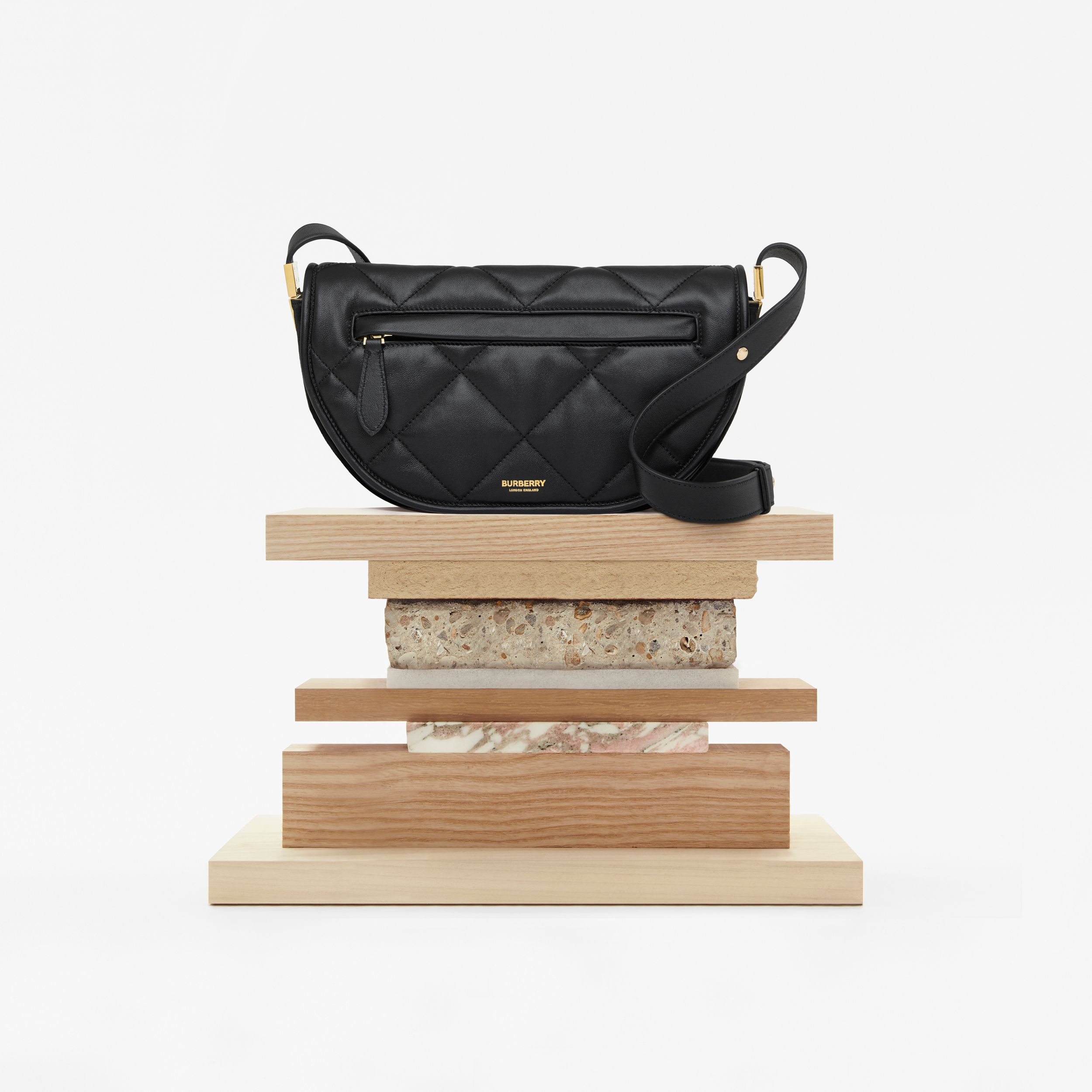 Small Quilted Lambskin Olympia Bag in Black - Women | Burberry Singapore - 2