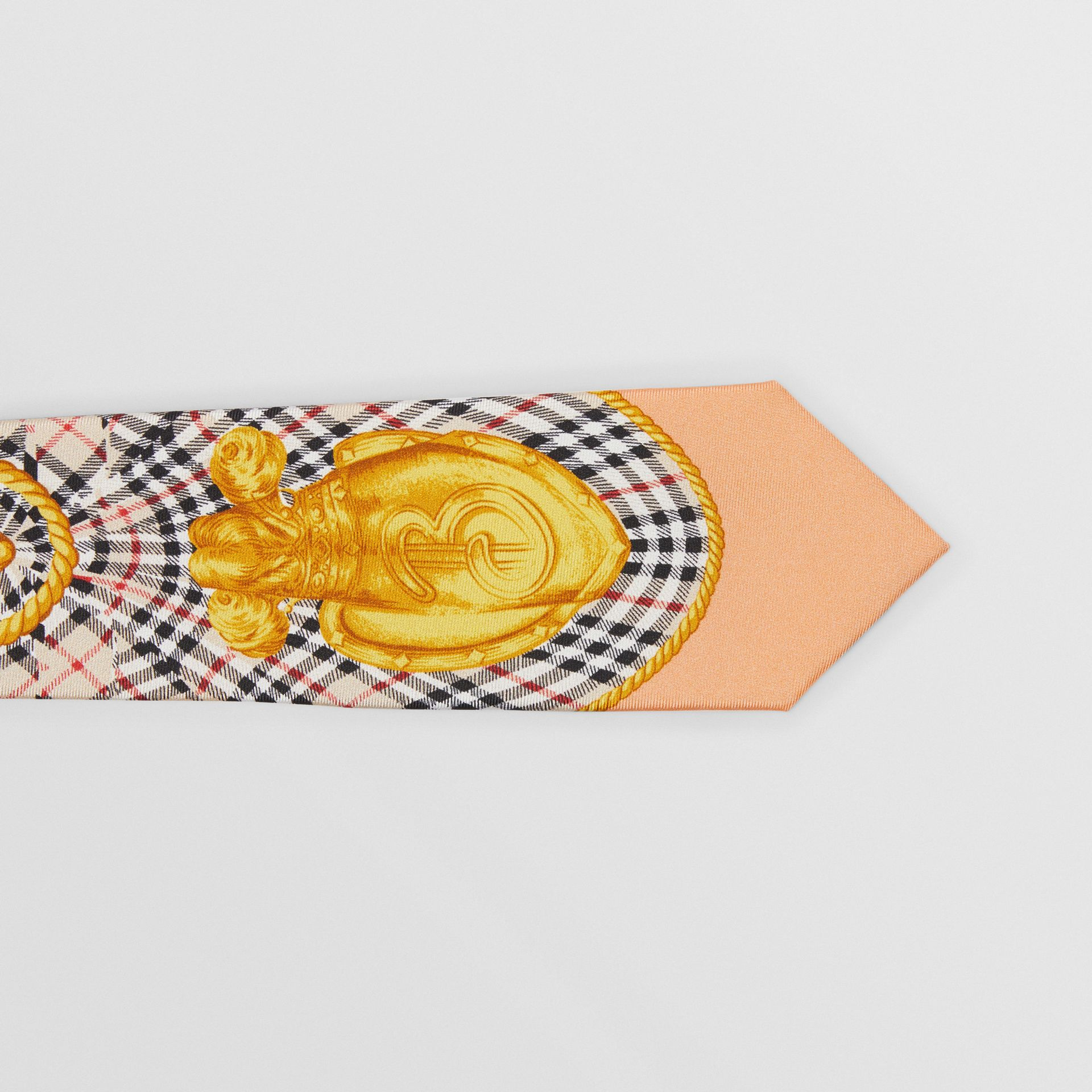 Modern Cut Archive Scarf Print Silk Tie in Pale Pink - Men   Burberry United States - gallery image 1