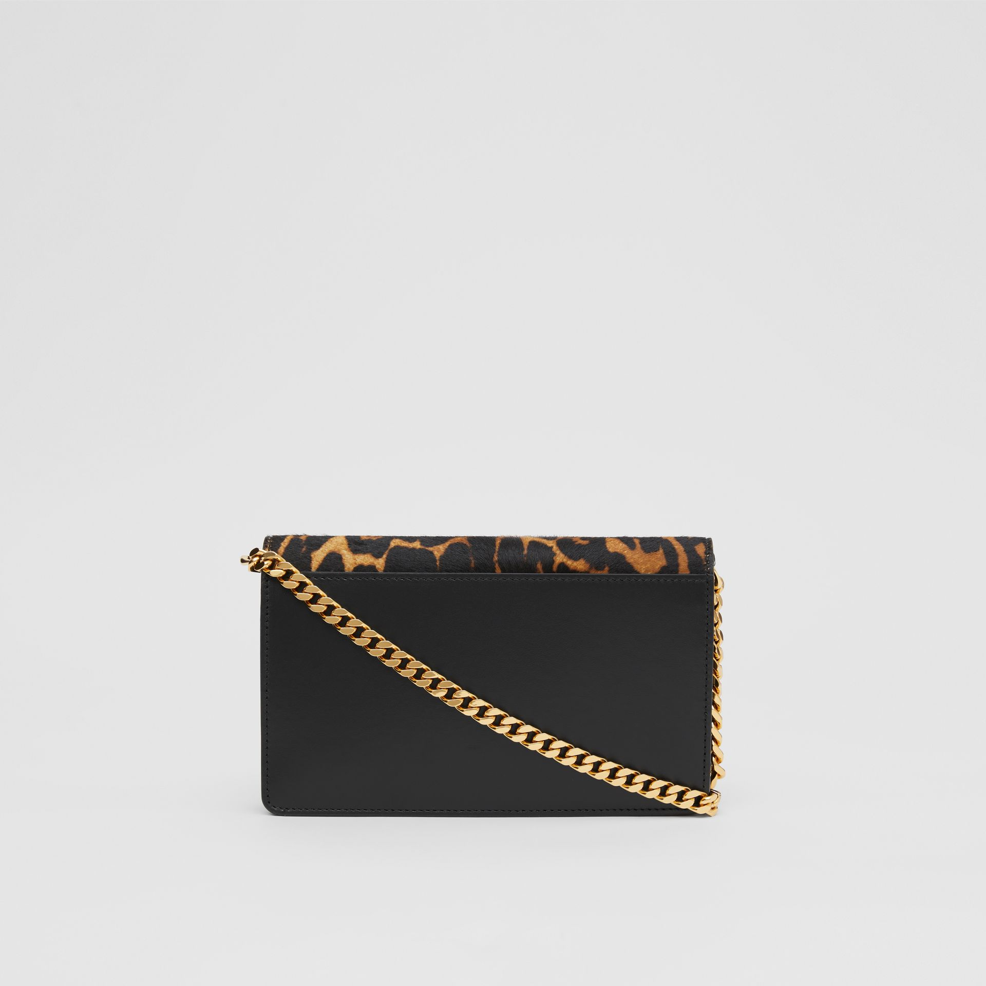 Small Leopard Print Calf Hair Shoulder Bag in Dark Mustard - Women | Burberry United Kingdom - gallery image 7