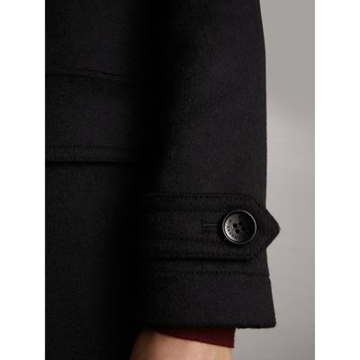 Wool Duffle Coat in Black - Women | Burberry