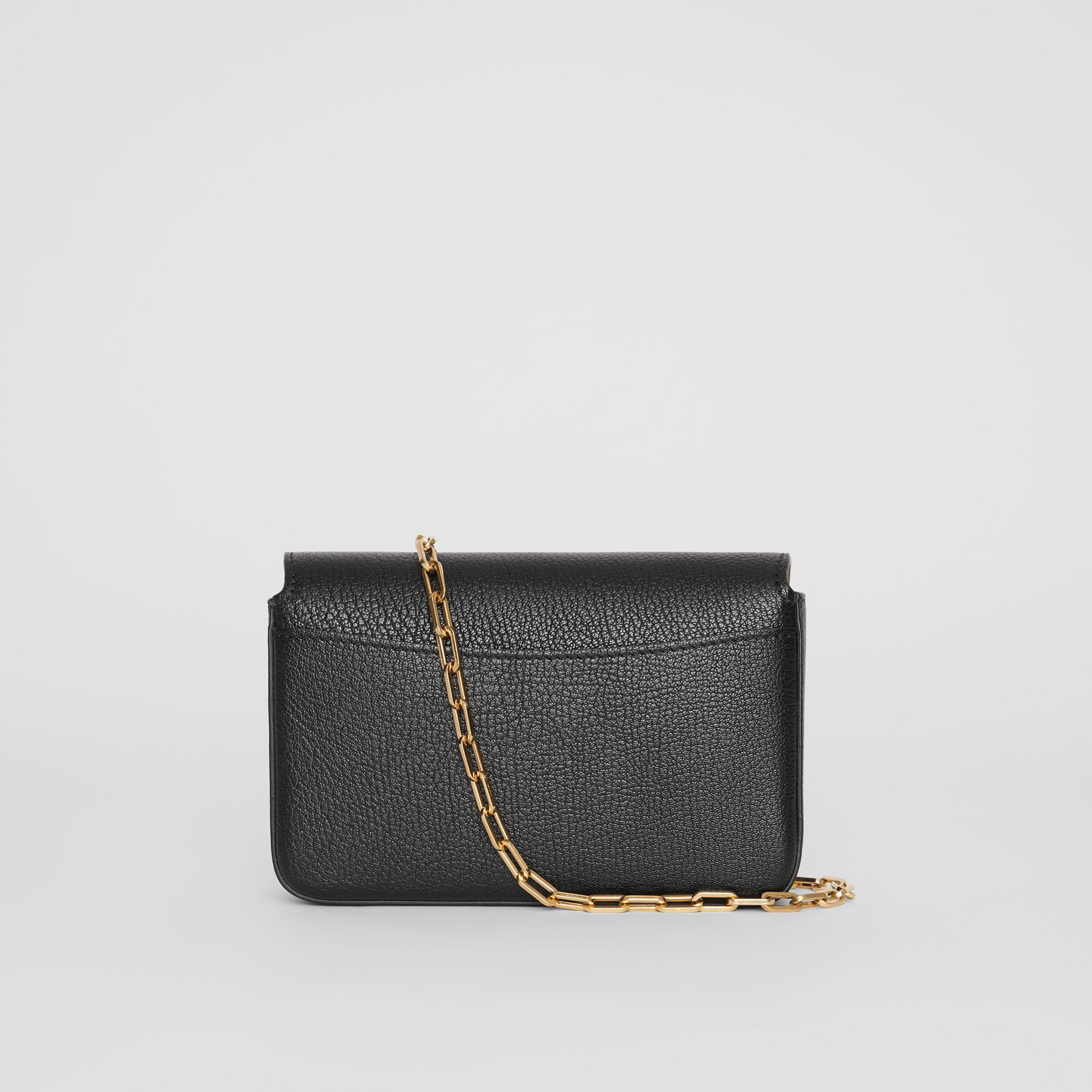 The Mini Leather D-ring Bag in Black - Women | Burberry United States - gallery image 8