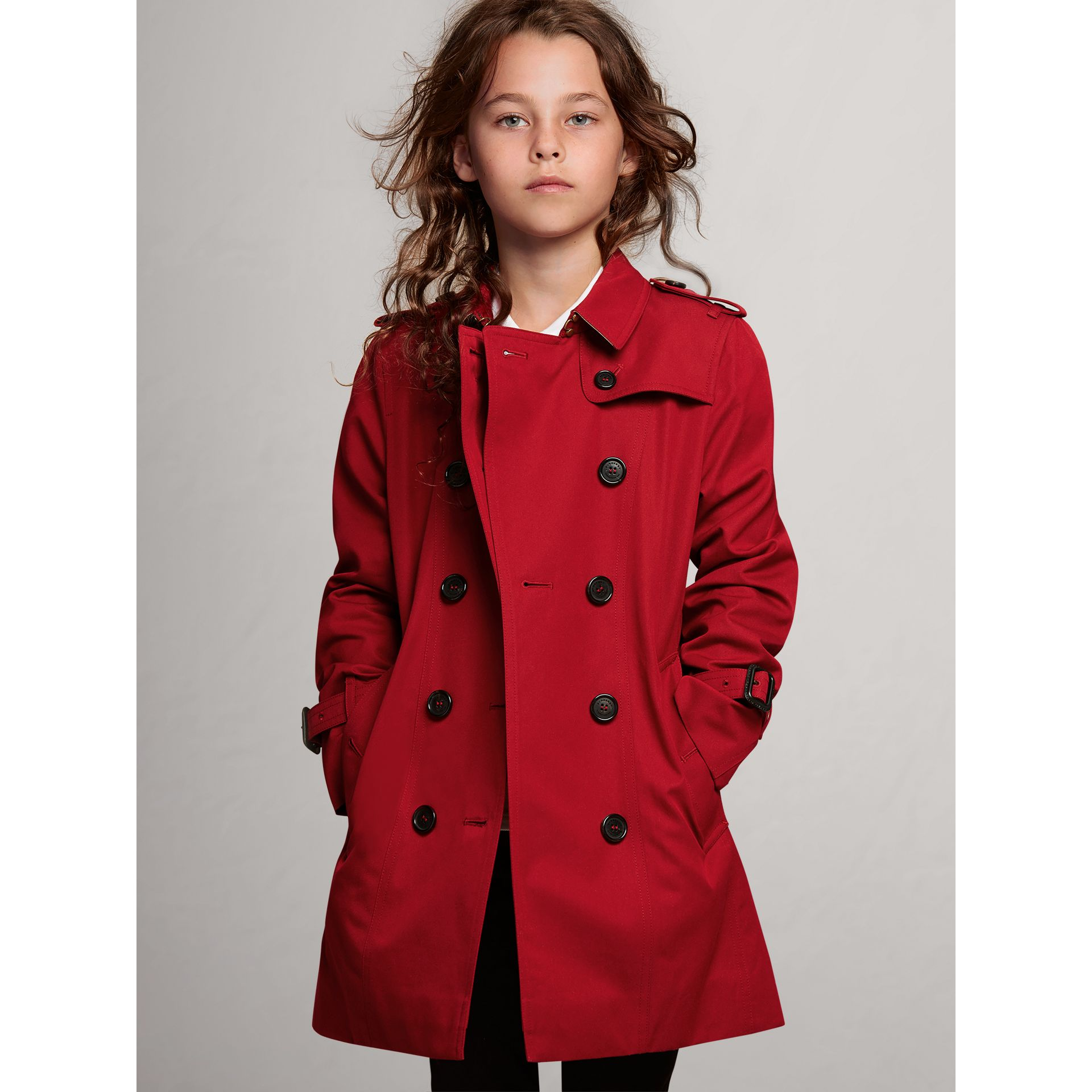 The Sandringham Trench Coat in Parade Red - Girl | Burberry - gallery image 0