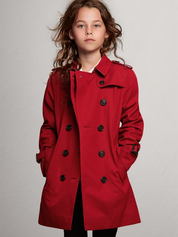 The Sandringham Trench Coat in Parade Red