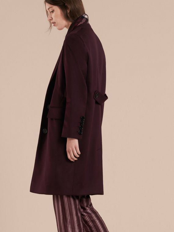Dark elderberry Cashmere Tailored Coat Dark Elderberry - cell image 2