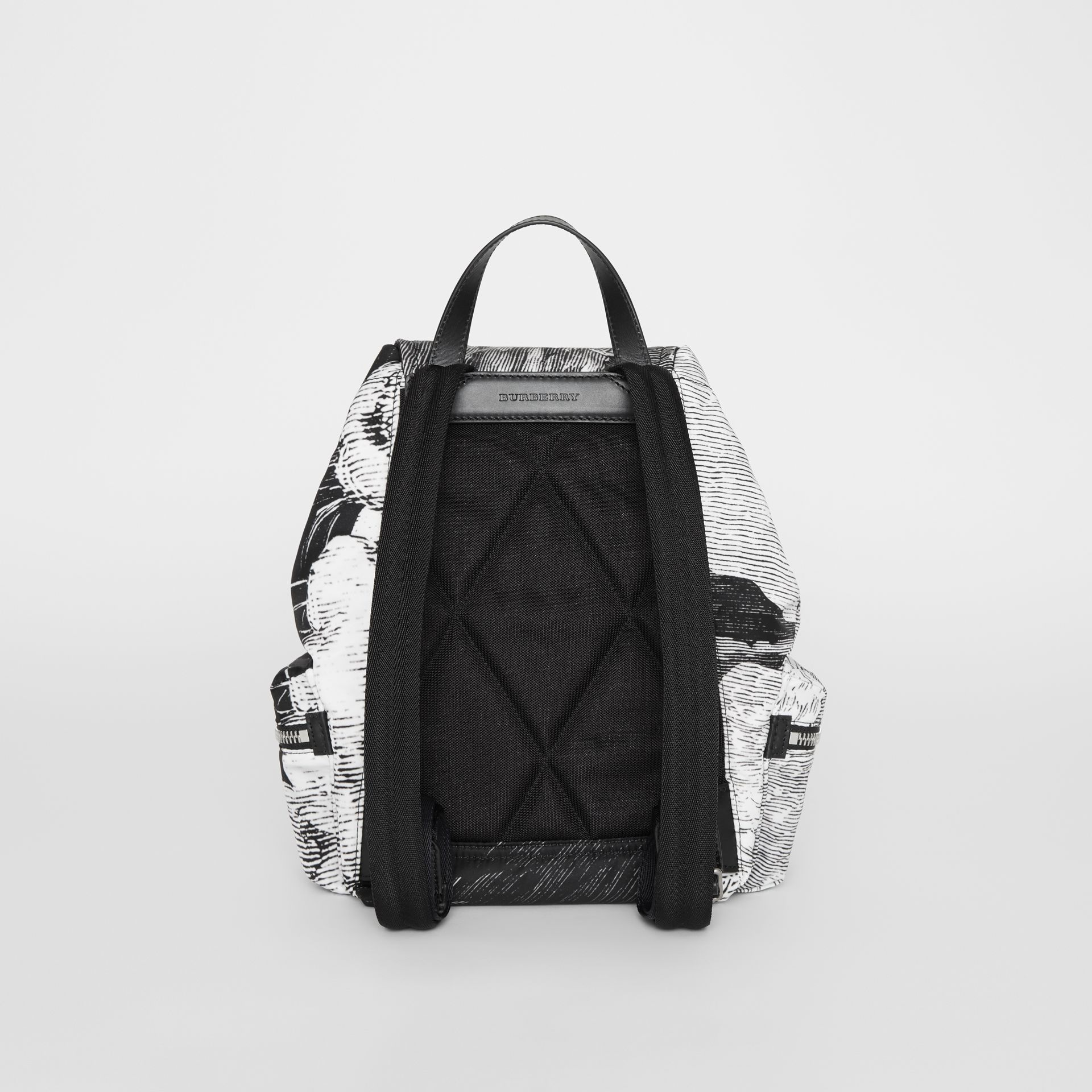 The Medium Rucksack in Dreamscape Print in Black - Women | Burberry - gallery image 7