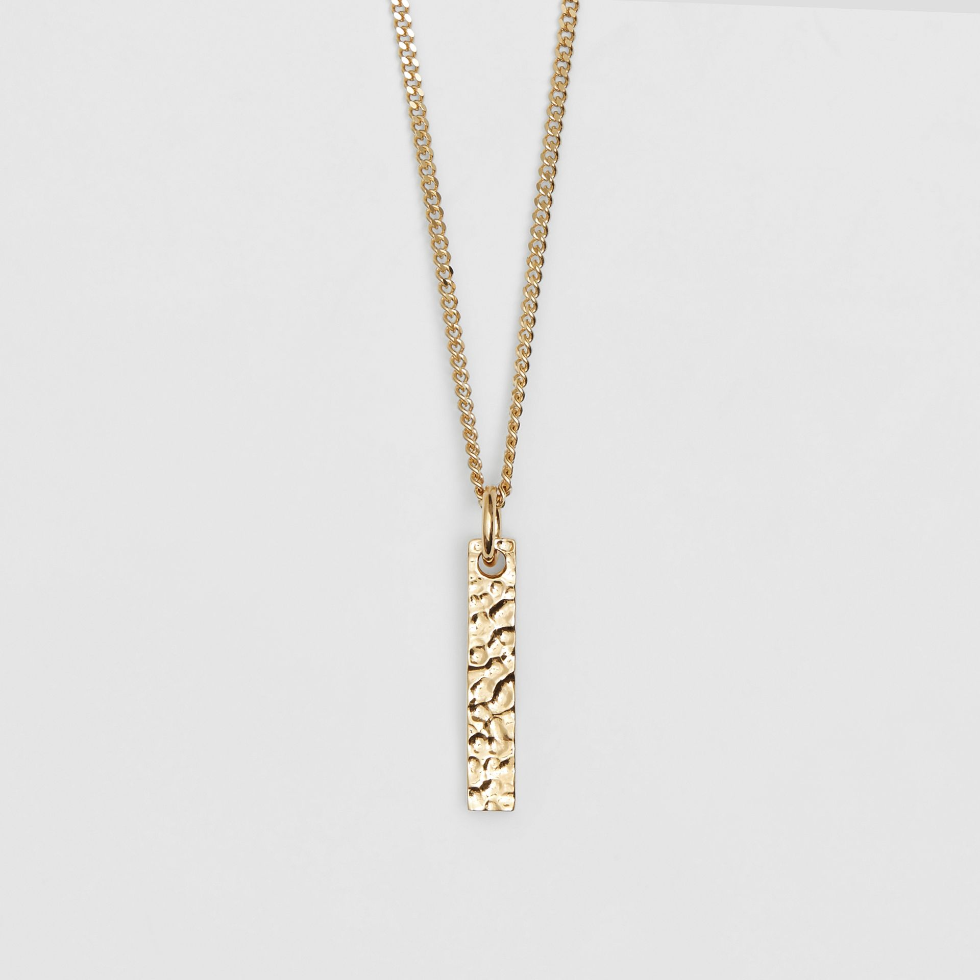 'I' Alphabet Charm Gold-plated Necklace in Light - Women | Burberry United Kingdom - gallery image 2