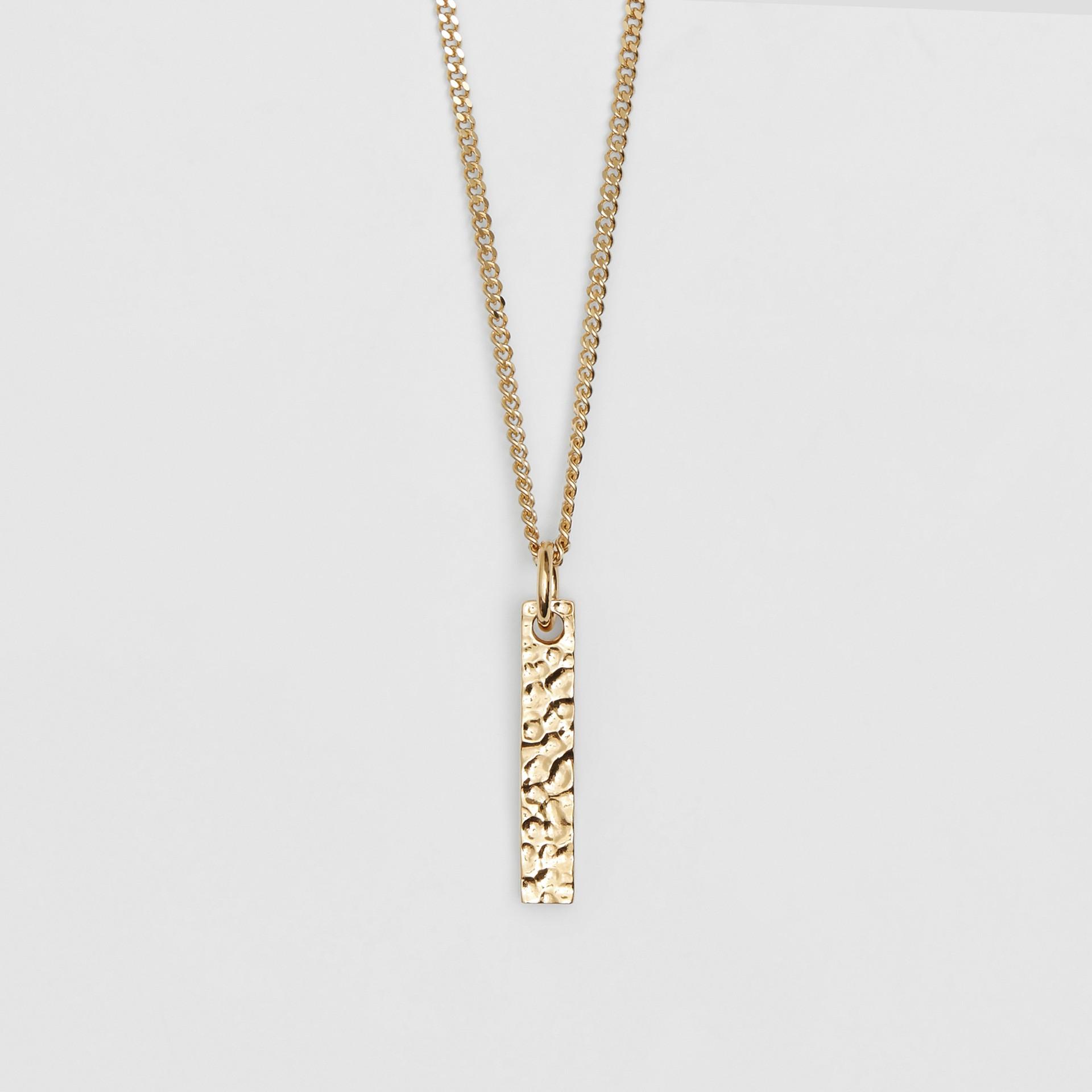 字母「I」吊飾鍍金項鍊 (淺金色) - 女款 | Burberry - 圖庫照片 2