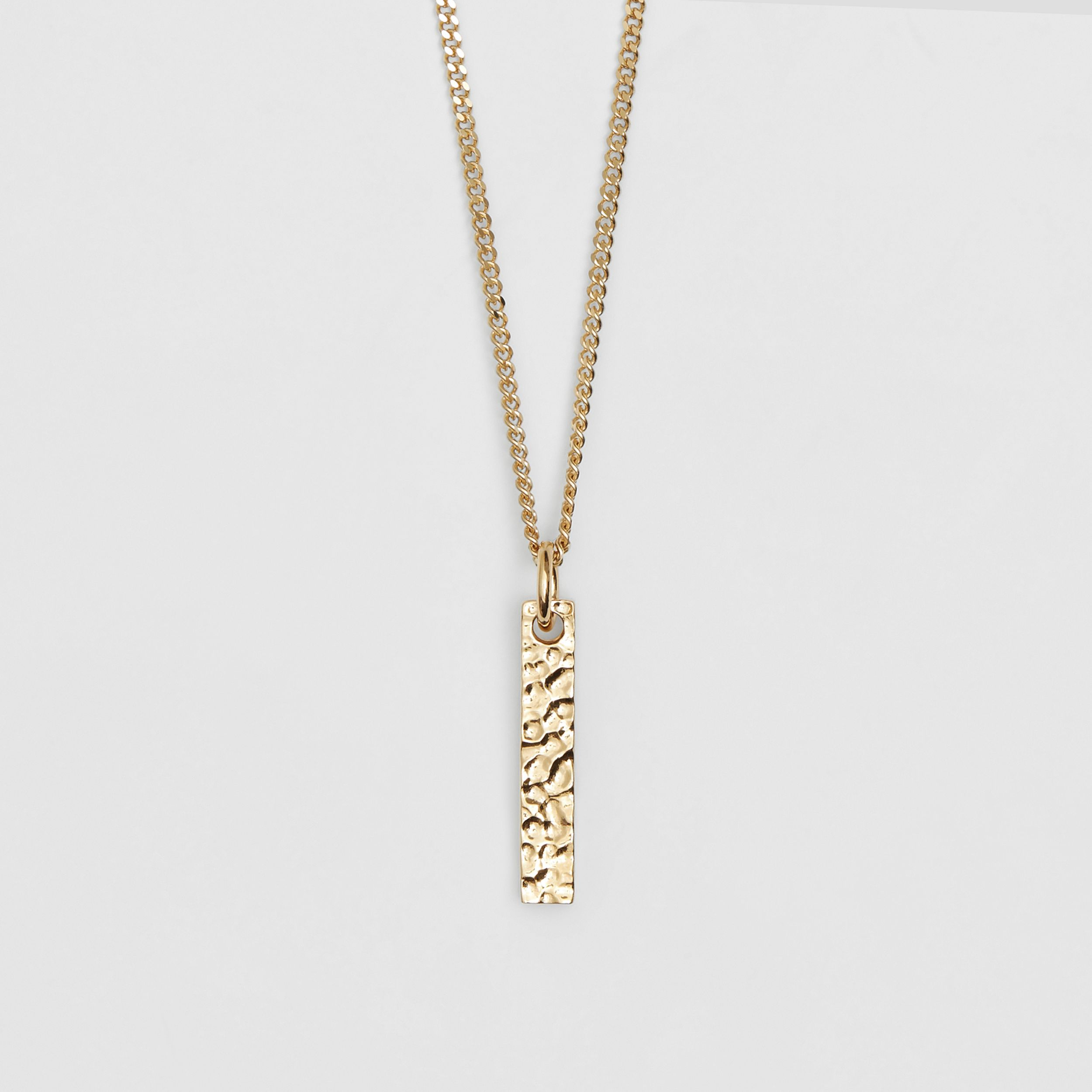 'I' Alphabet Charm Gold-plated Necklace in Light - Women | Burberry Canada - 3