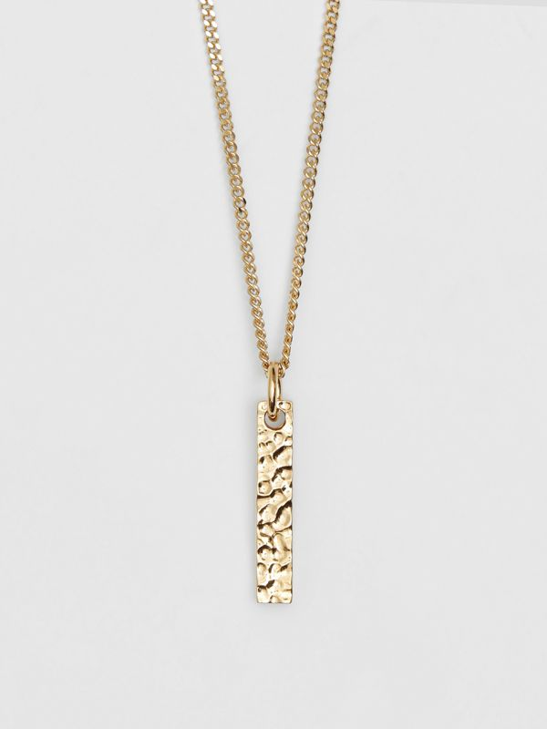 'I' Alphabet Charm Gold-plated Necklace in Light - Women | Burberry United Kingdom - cell image 2