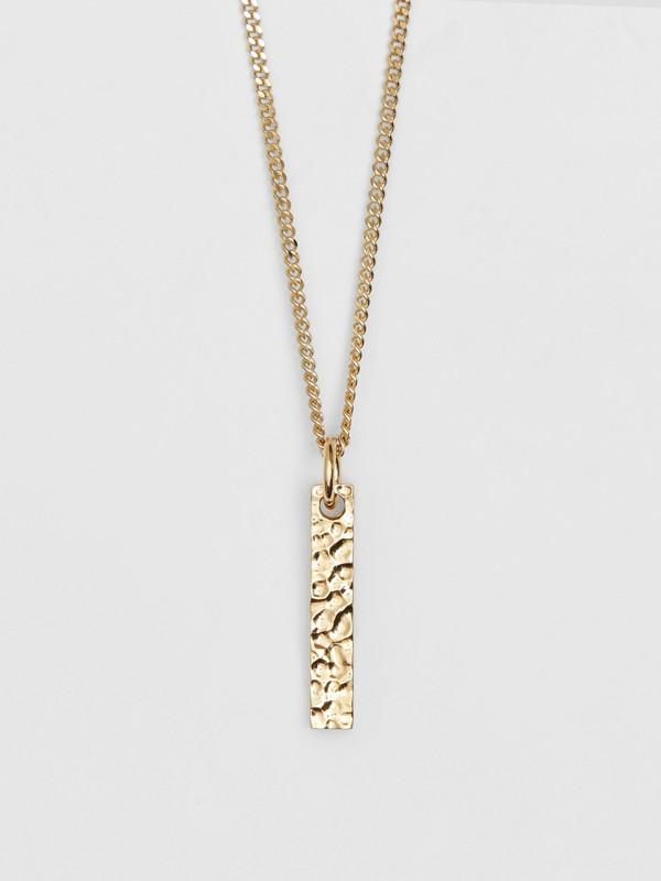 字母「I」吊飾鍍金項鍊 (淺金色) - 女款 | Burberry - cell image 2