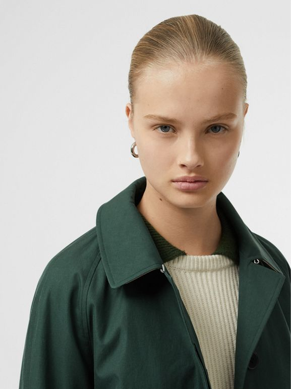 The Camden Car Coat in Dark Emerald - Women | Burberry United Kingdom - cell image 1