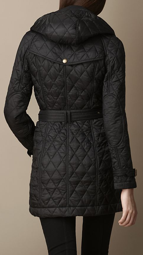 Black Diamond Quilted Coat - Image 2