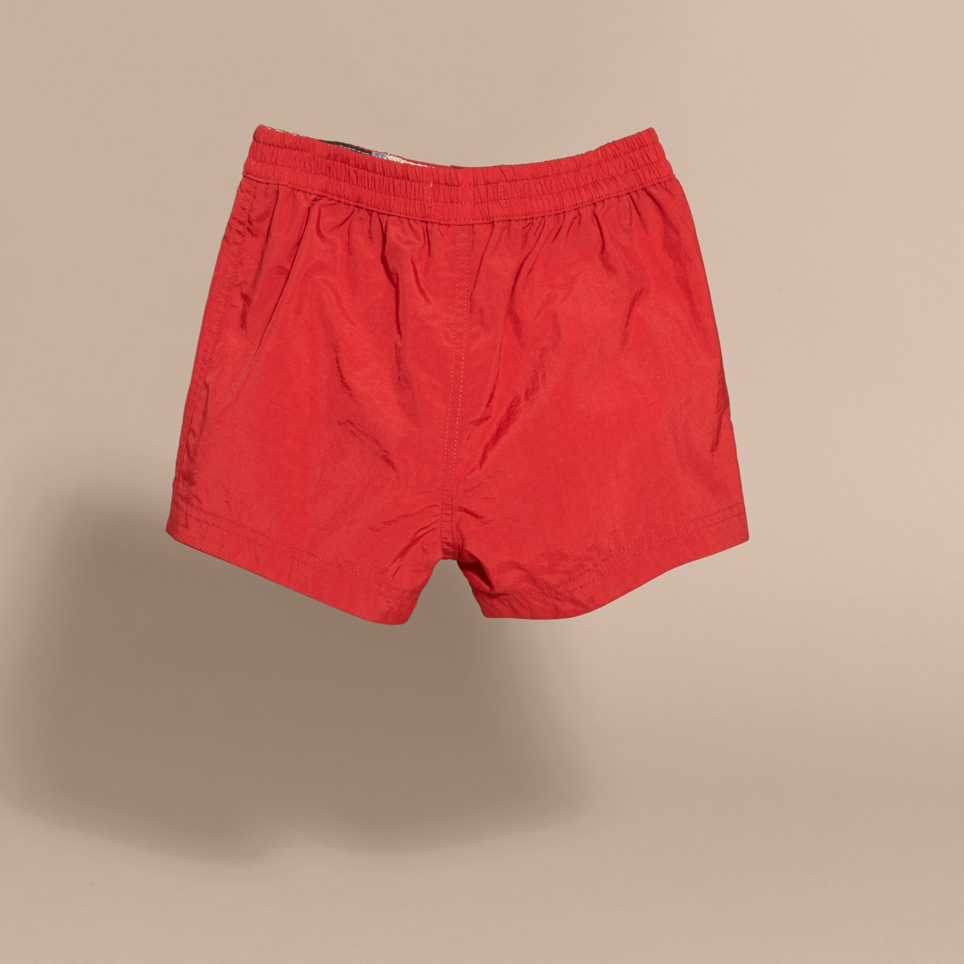 Quick-dry Swim Shorts in Military Red | Burberry - gallery image 2