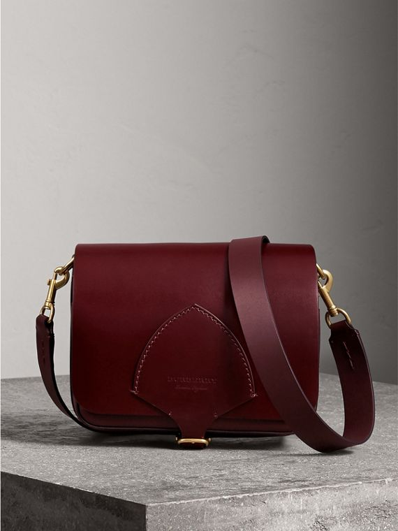 The Square Satchel in Bridle Leather in Deep Claret