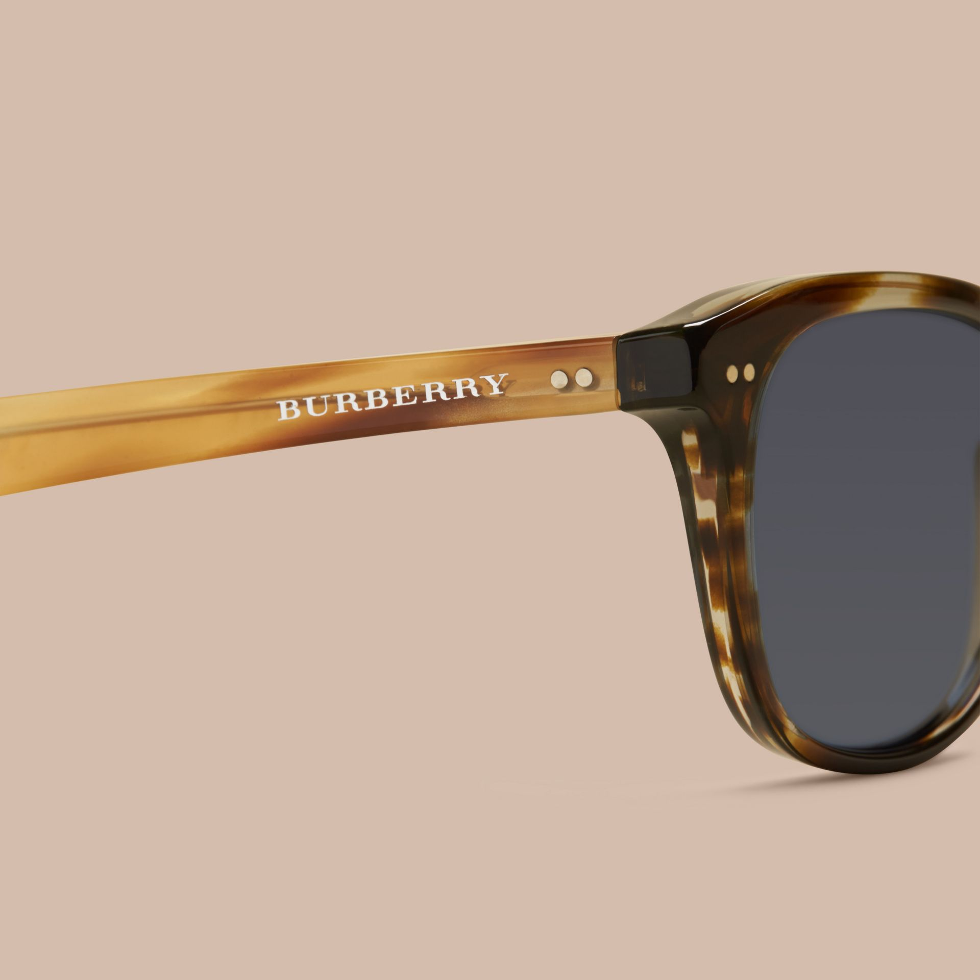 Dark brown horn Square Frame Sunglasses Dark Brown Horn - gallery image 2