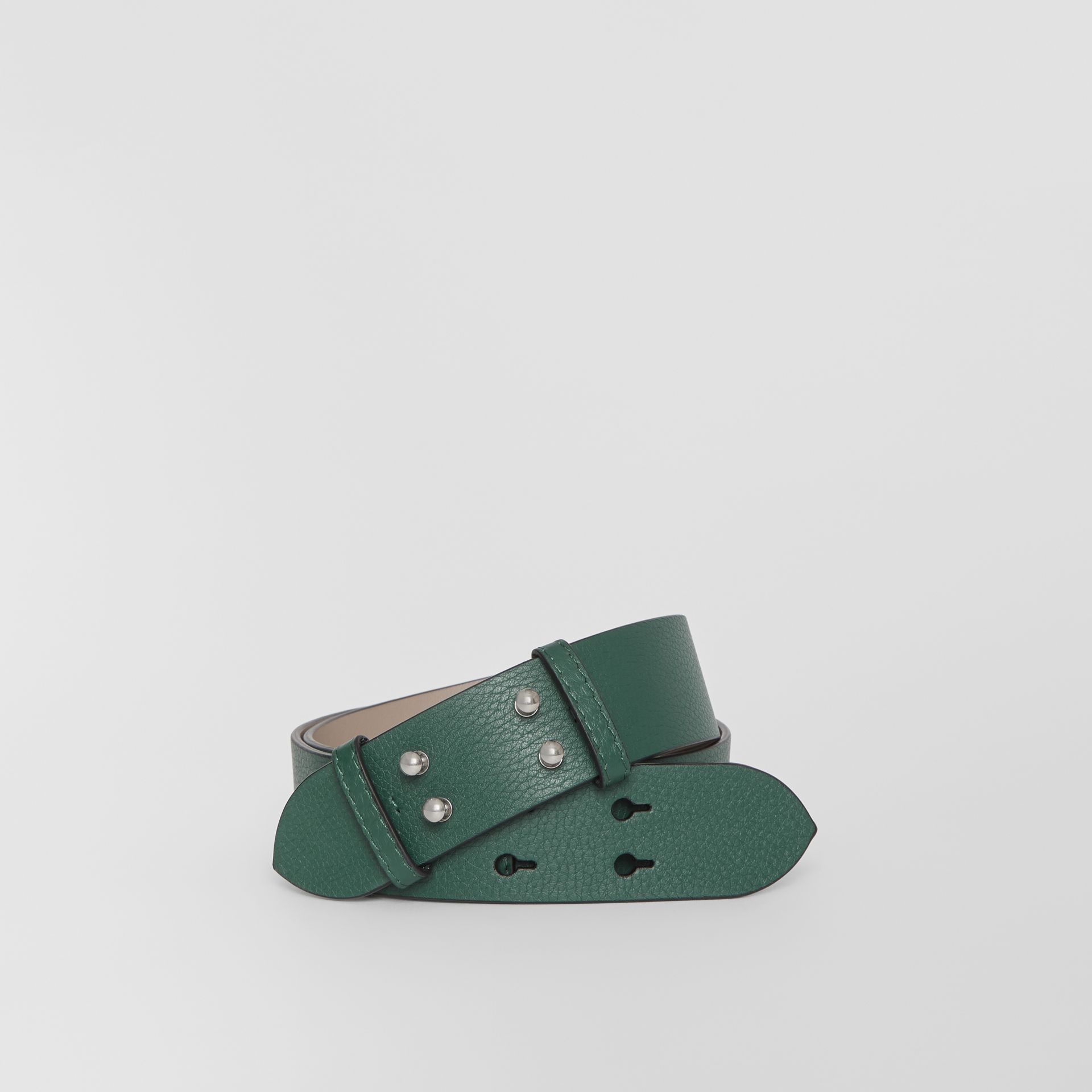 The Medium Belt Bag Grainy Leather Belt in Sea Green - Women | Burberry - gallery image 0