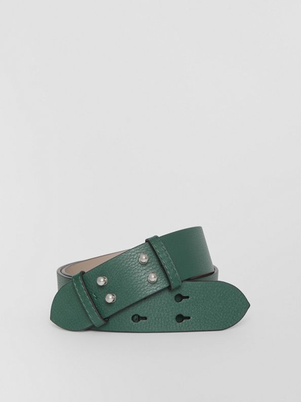 The Medium Belt Bag Grainy Leather Belt in Sea Green